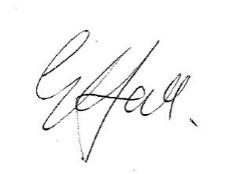 Signature of Gary Hall, Chief Executive Officer